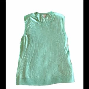 J.Crew Mint Knit Vest Top Size L